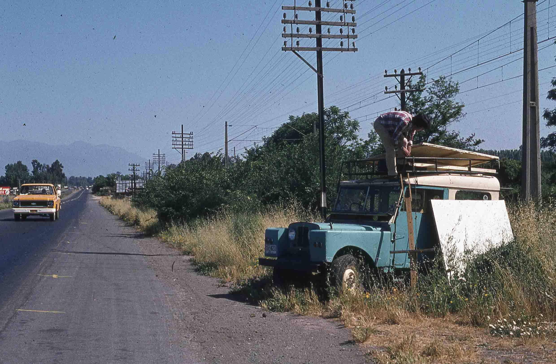 Enterreno - Fotos históricas de chile - fotos antiguas de Chile - Panamericana sur en los 80