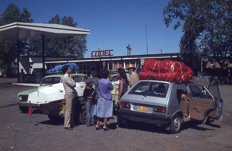 Enterreno - Fotos históricas de chile - fotos antiguas de Chile - Copec en panamericana sur, ca, 1979
