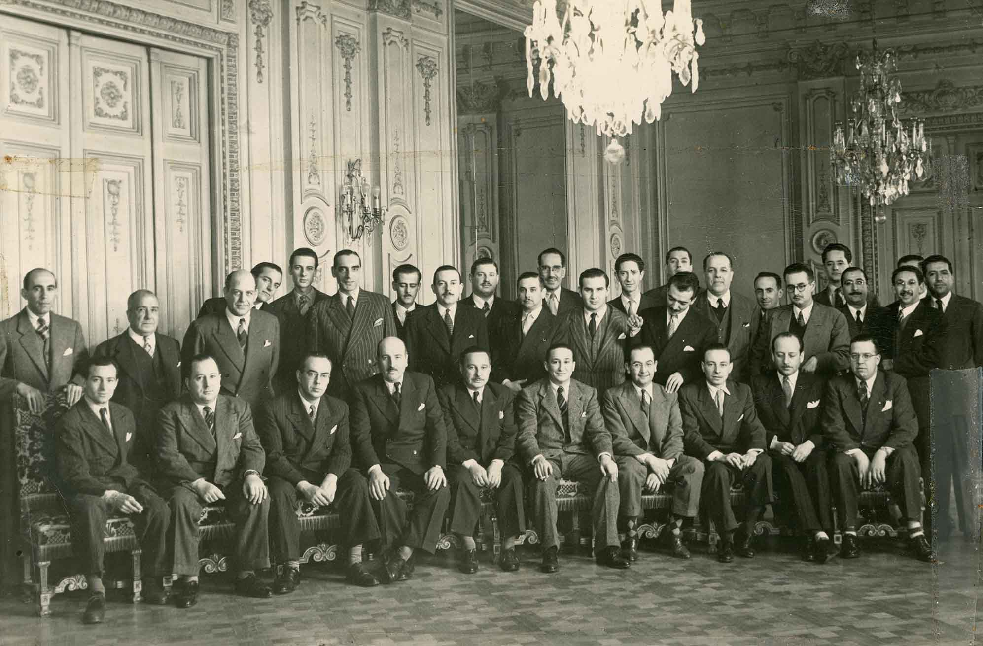 Enterreno - Fotos históricas de chile - fotos antiguas de Chile - Club de la Unión, Santiago, 1947