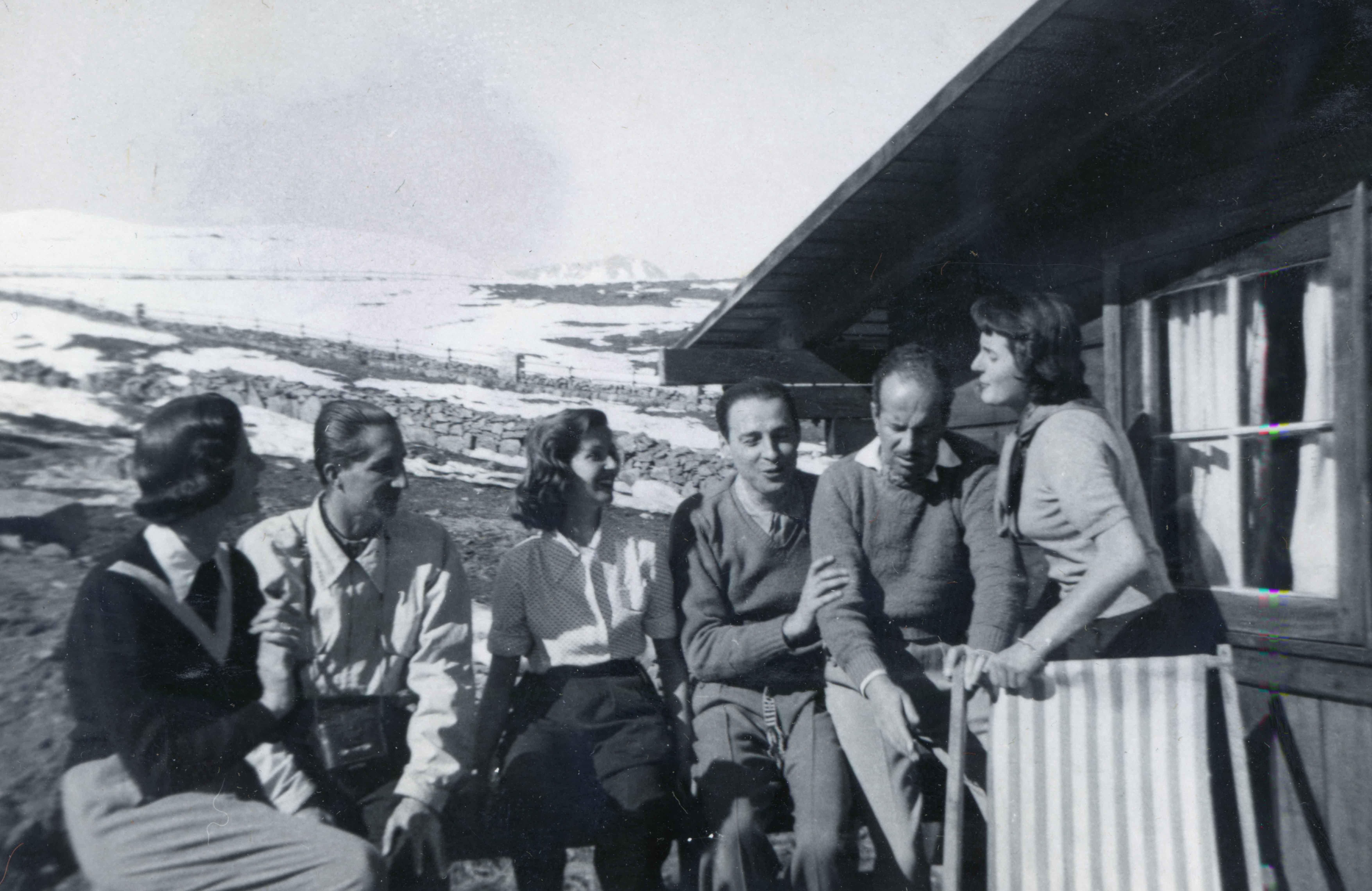 Enterreno - Fotos históricas de chile - fotos antiguas de Chile - Farellones en 1950
