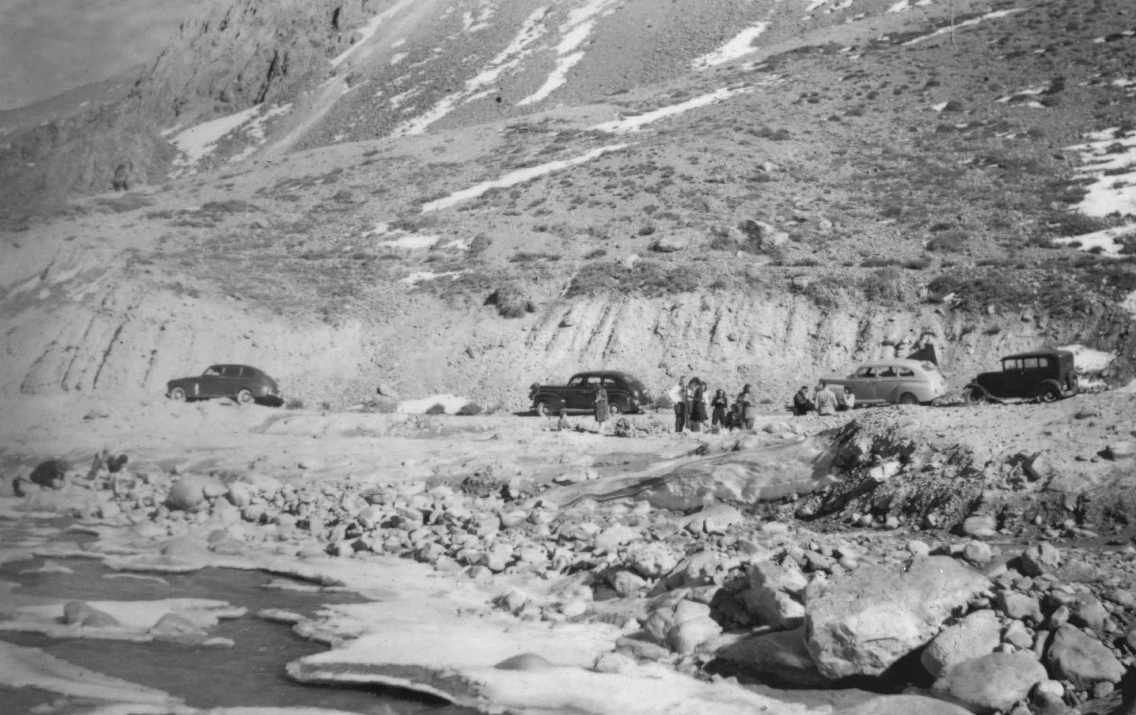 Enterreno - Fotos históricas de chile - fotos antiguas de Chile - Sector Pérez Caldera, Lo Barnechea en 1947