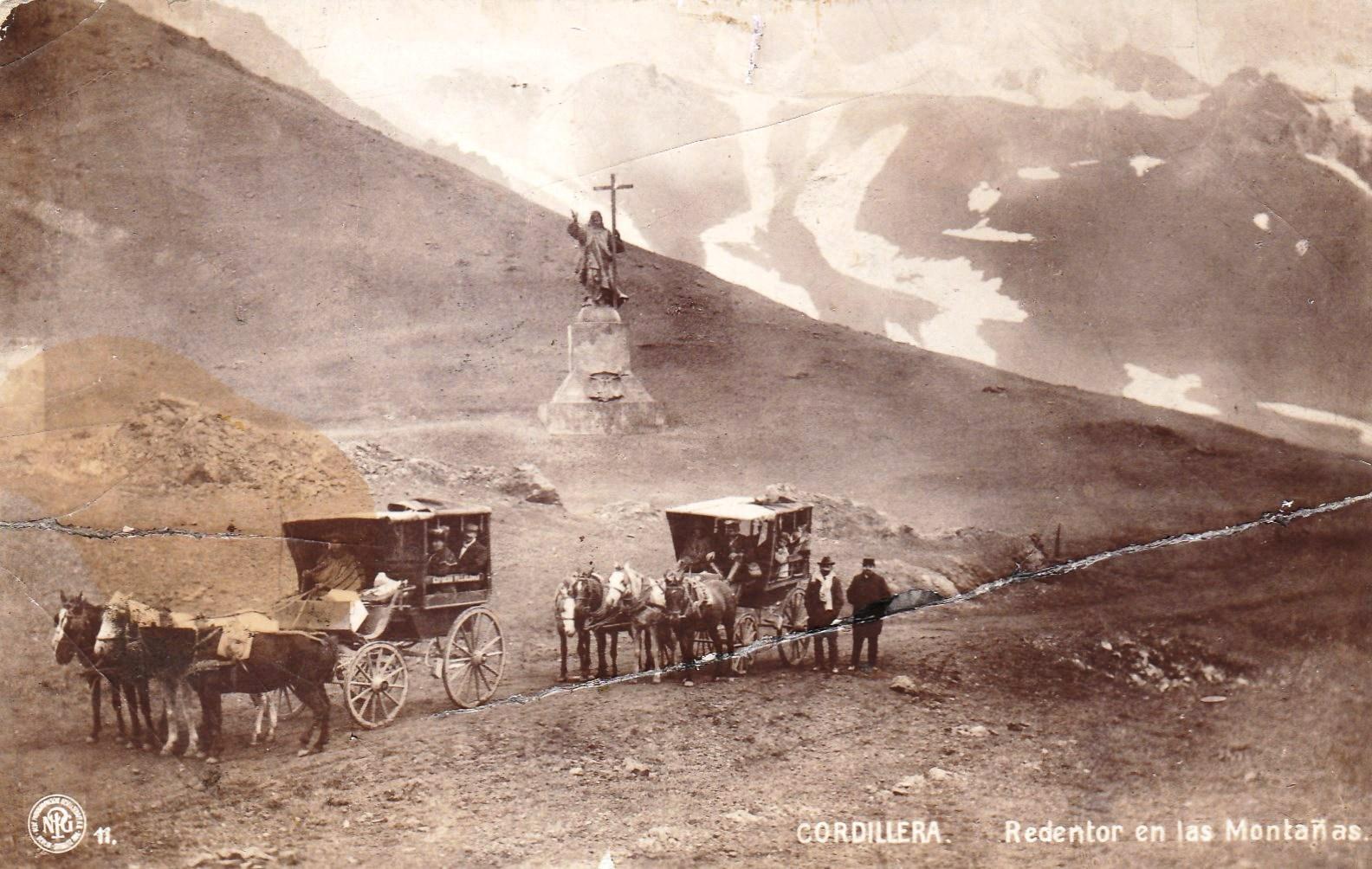 Enterreno - Fotos históricas de chile - fotos antiguas de Chile - Cristo Redentor de Los Andes en 1910