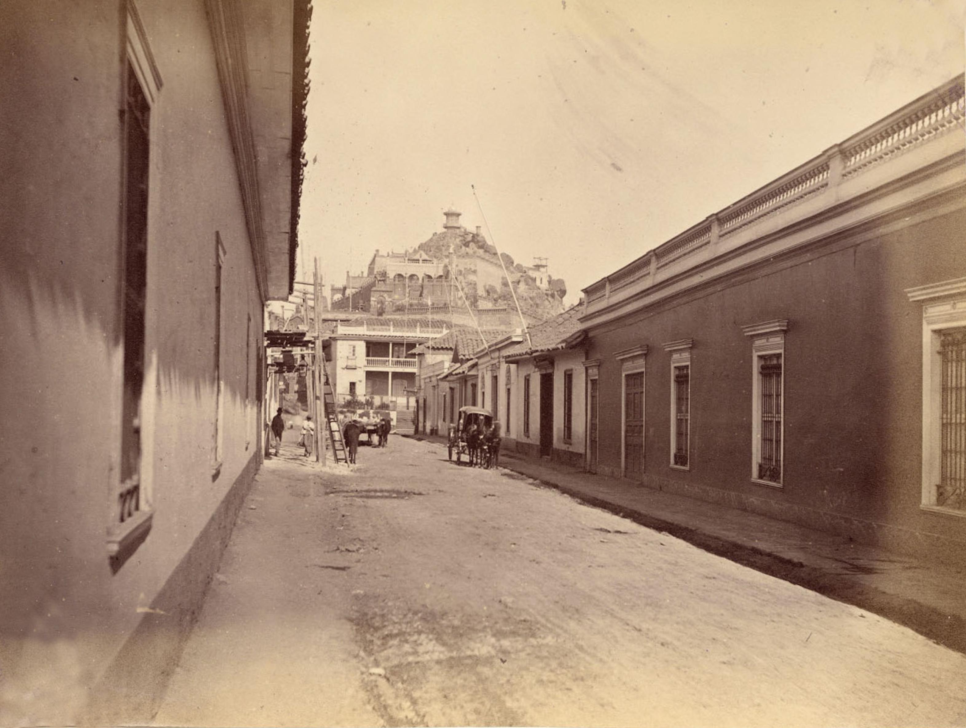 Enterreno - Fotos históricas de chile - fotos antiguas de Chile - Cerro Santa Lucía