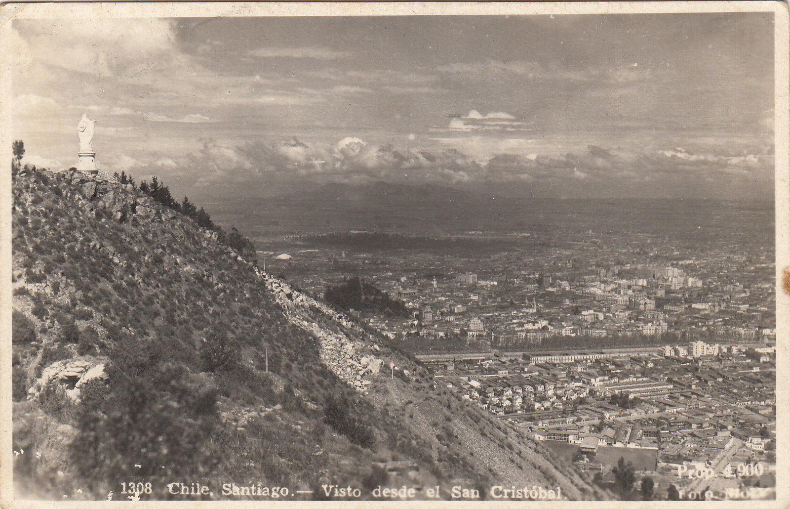 Enterreno - Fotos históricas de chile - fotos antiguas de Chile - Cerro San Cristóbal en 1948