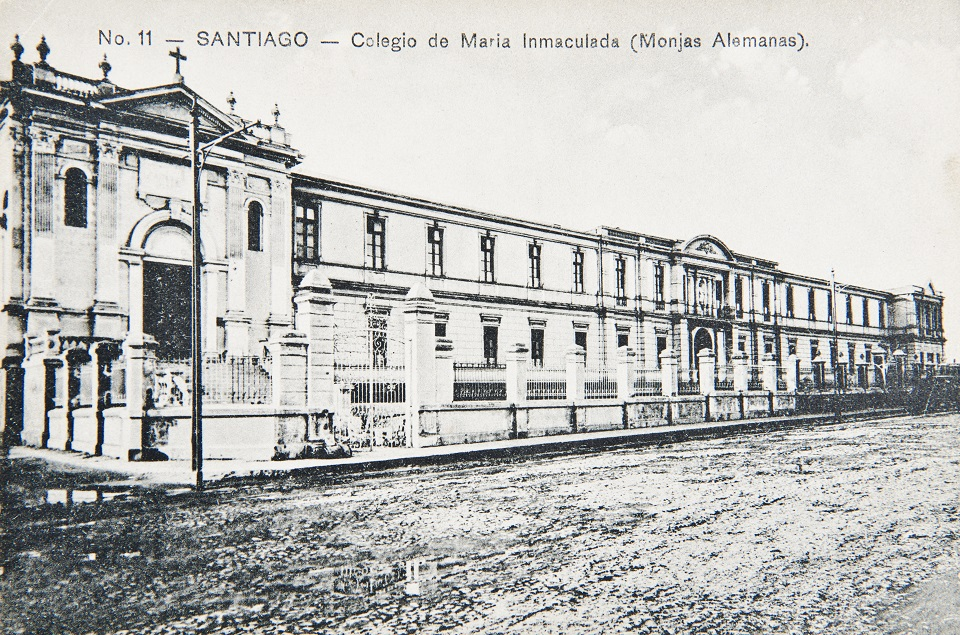 Enterreno - Fotos históricas de chile - fotos antiguas de Chile - Colegio de María Inmaculada en 1908