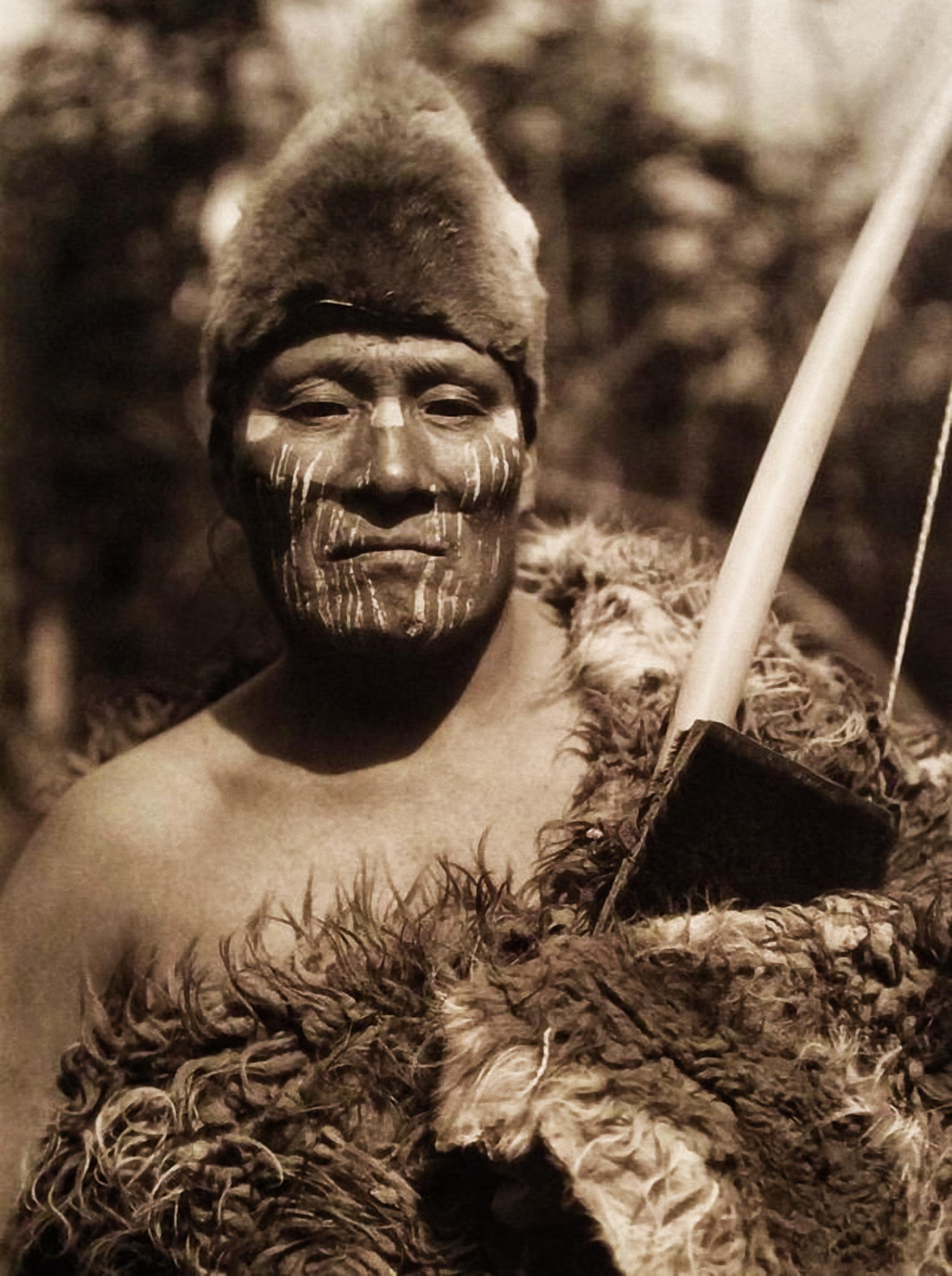 Enterreno - Fotos históricas de chile - fotos antiguas de Chile - El selk'nam de nombre Halimink, 1923