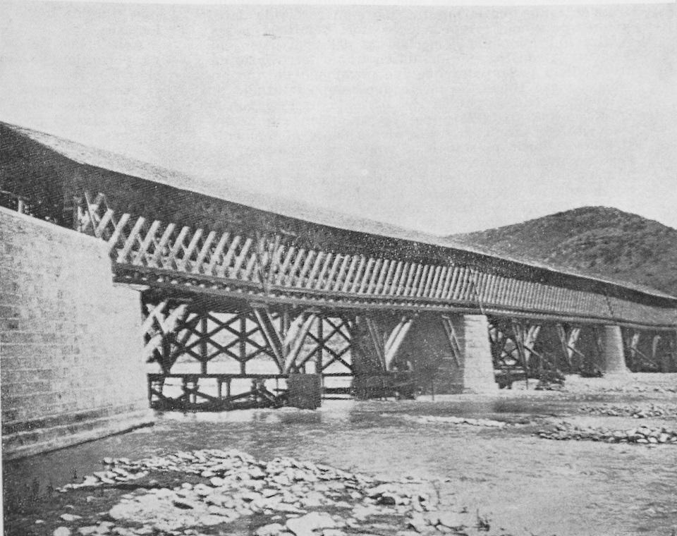 Enterreno - Fotos históricas de chile - fotos antiguas de Chile - Puente Los Morros en 1915