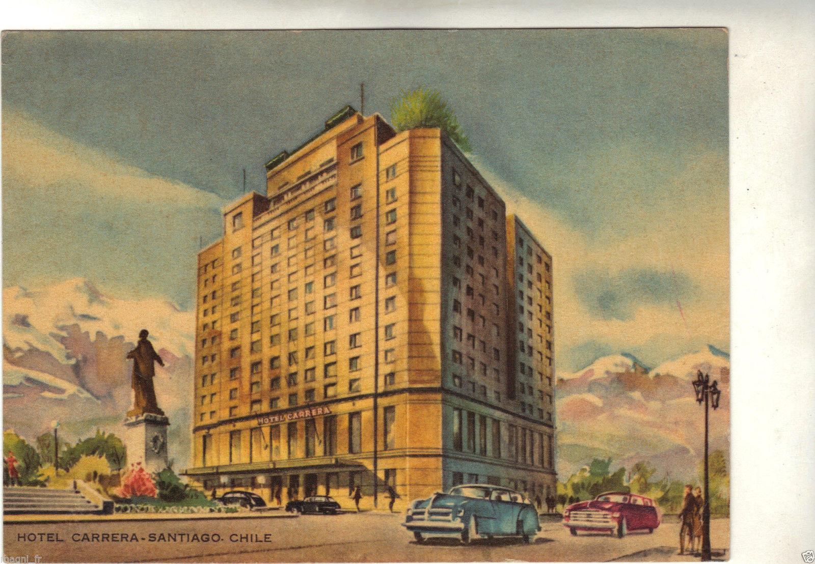 Enterreno - Fotos históricas de chile - fotos antiguas de Chile - Hotel Carrera en 1940