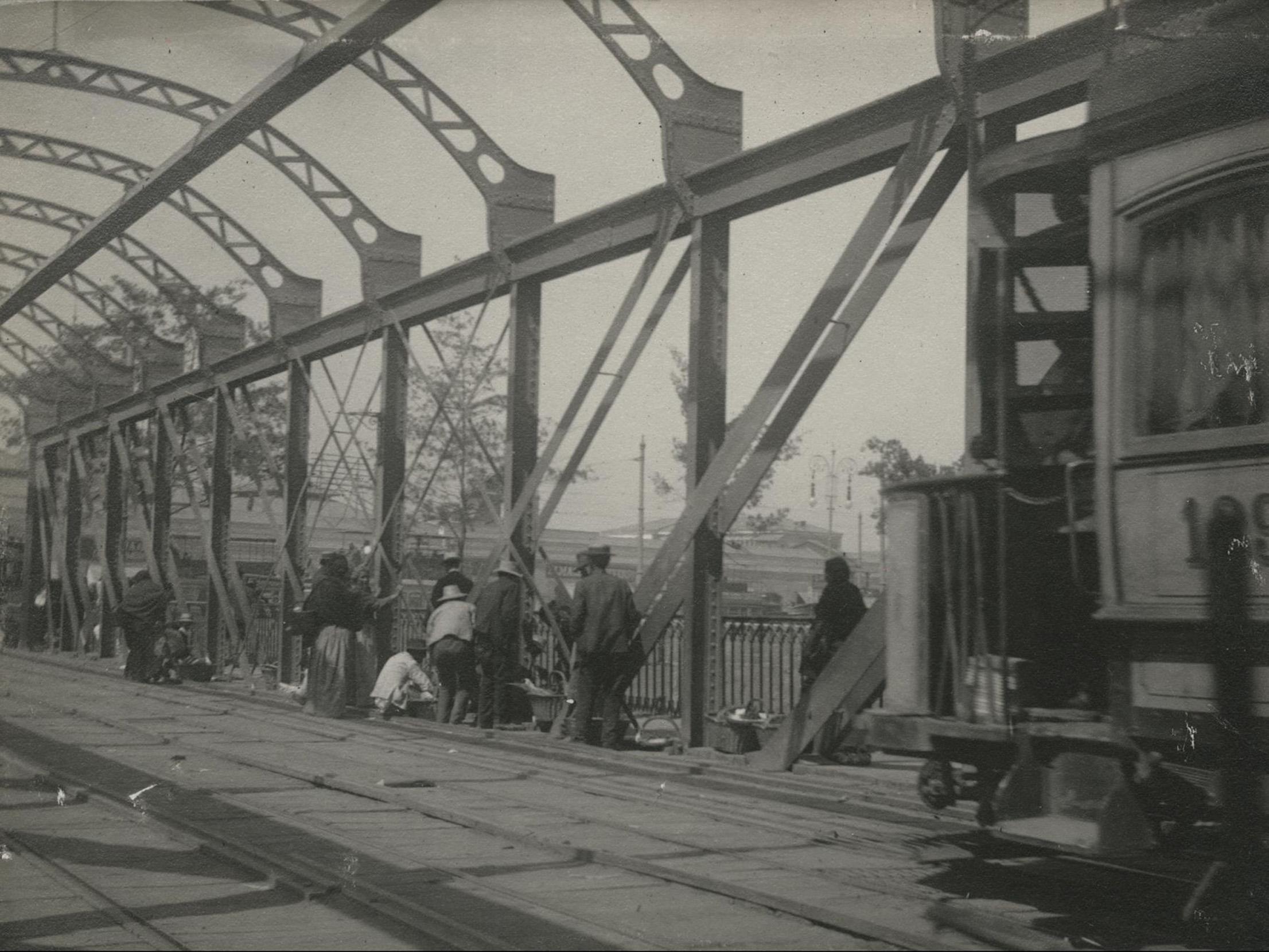Enterreno - Fotos históricas de chile - fotos antiguas de Chile - Puente Purísima en 1910