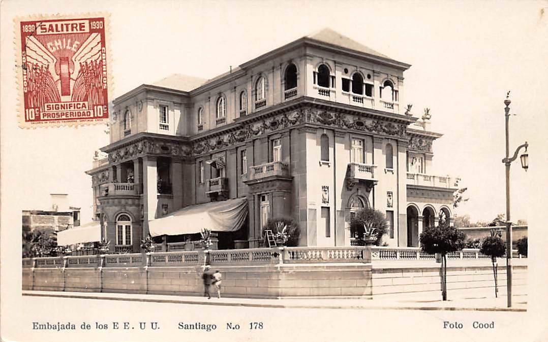 Enterreno - Fotos históricas de chile - fotos antiguas de Chile - Palacio Bruna en 1940