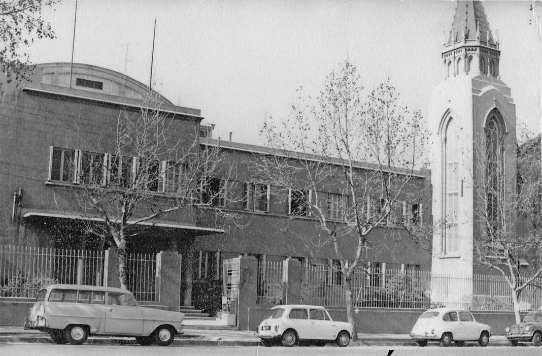 Enterreno - Fotos históricas de chile - fotos antiguas de Chile - Colegio Universitario Ingles en 1970