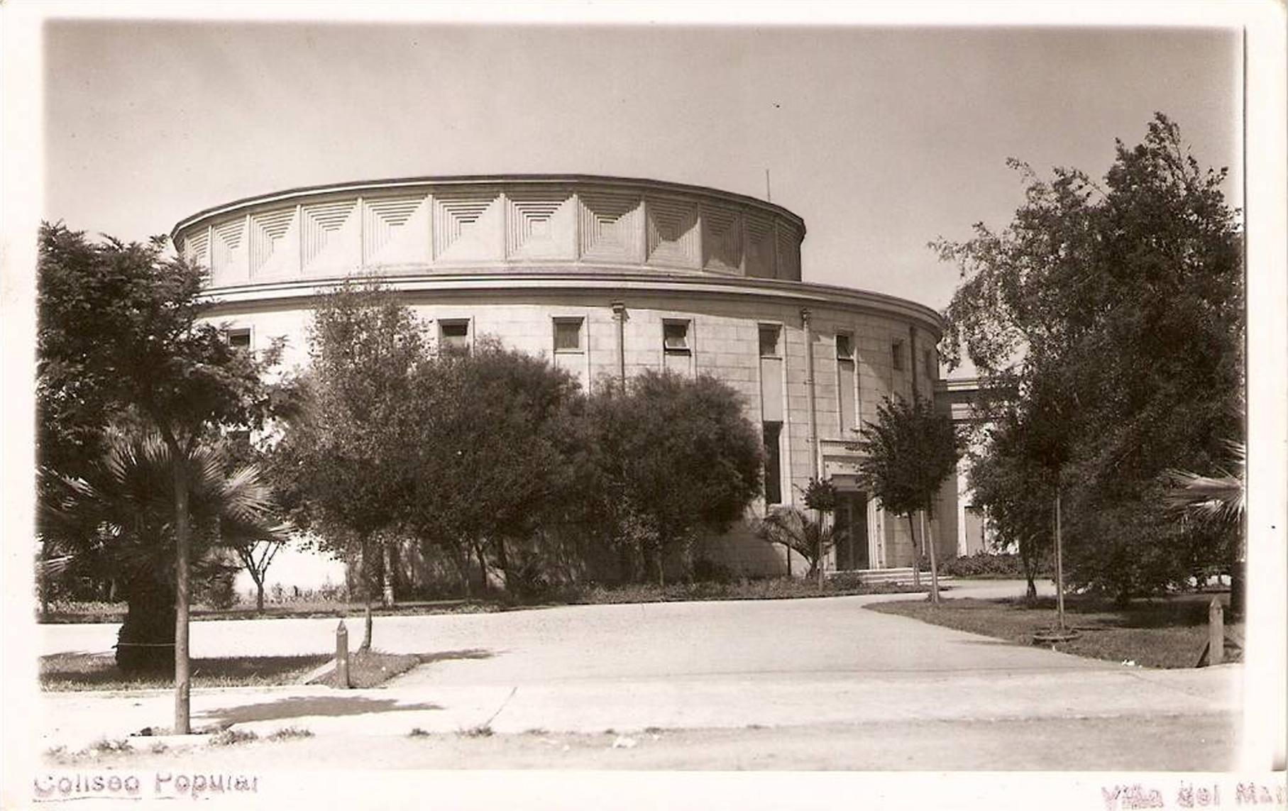 Enterreno - Fotos históricas de chile - fotos antiguas de Chile - Coliseo Popular en Viña del Mar en 1950