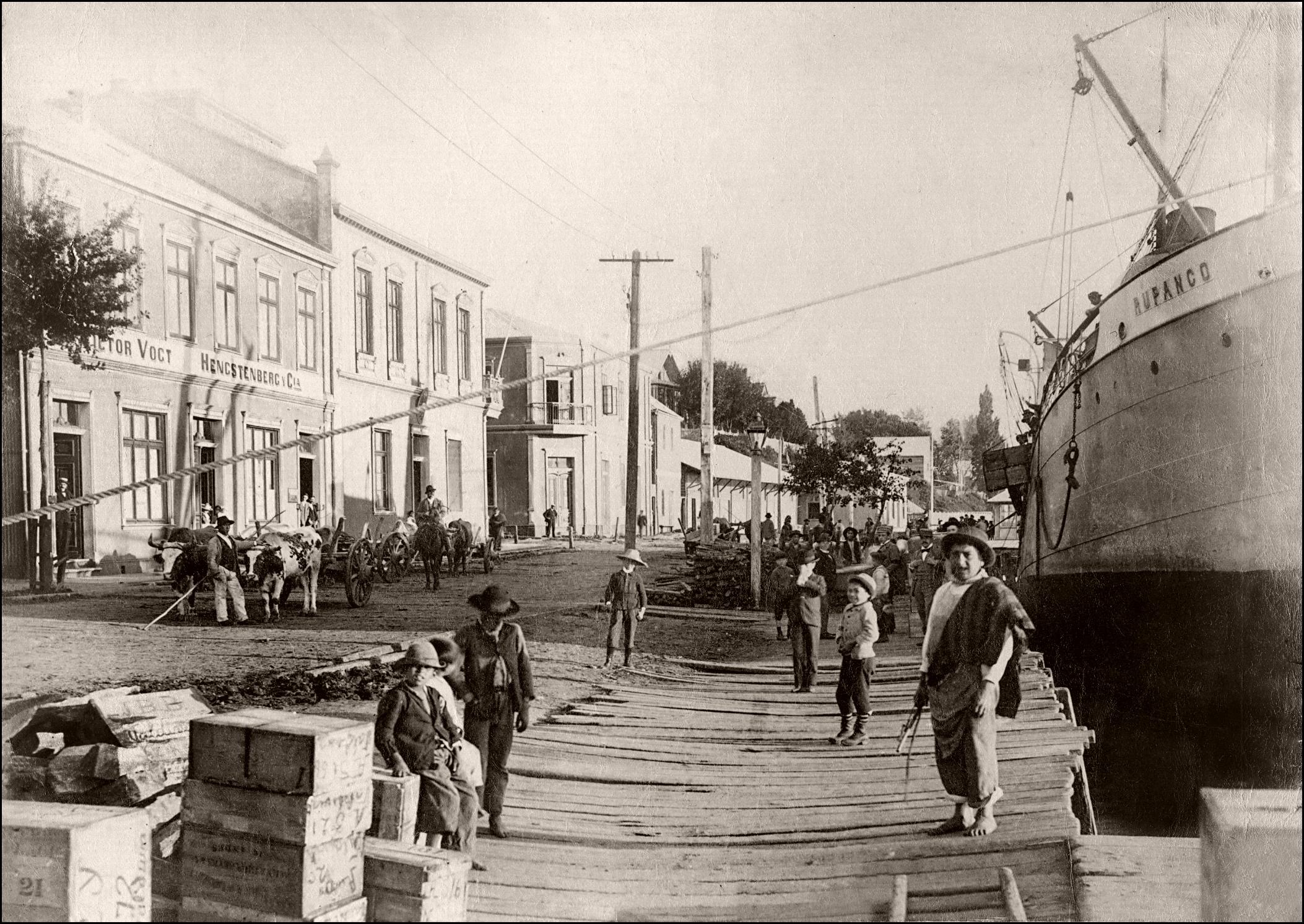 Enterreno - Fotos históricas de chile - fotos antiguas de Chile - Corral en 1901