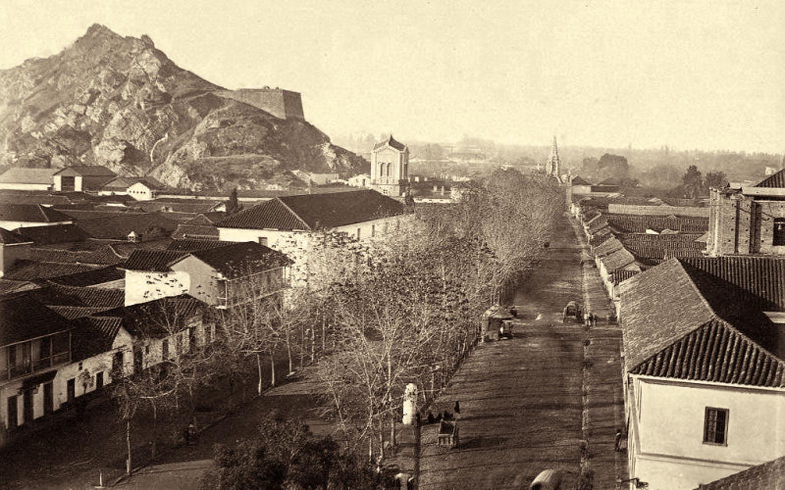 Enterreno - Fotos históricas de chile - fotos antiguas de Chile - Alameda de Santiago, 1870