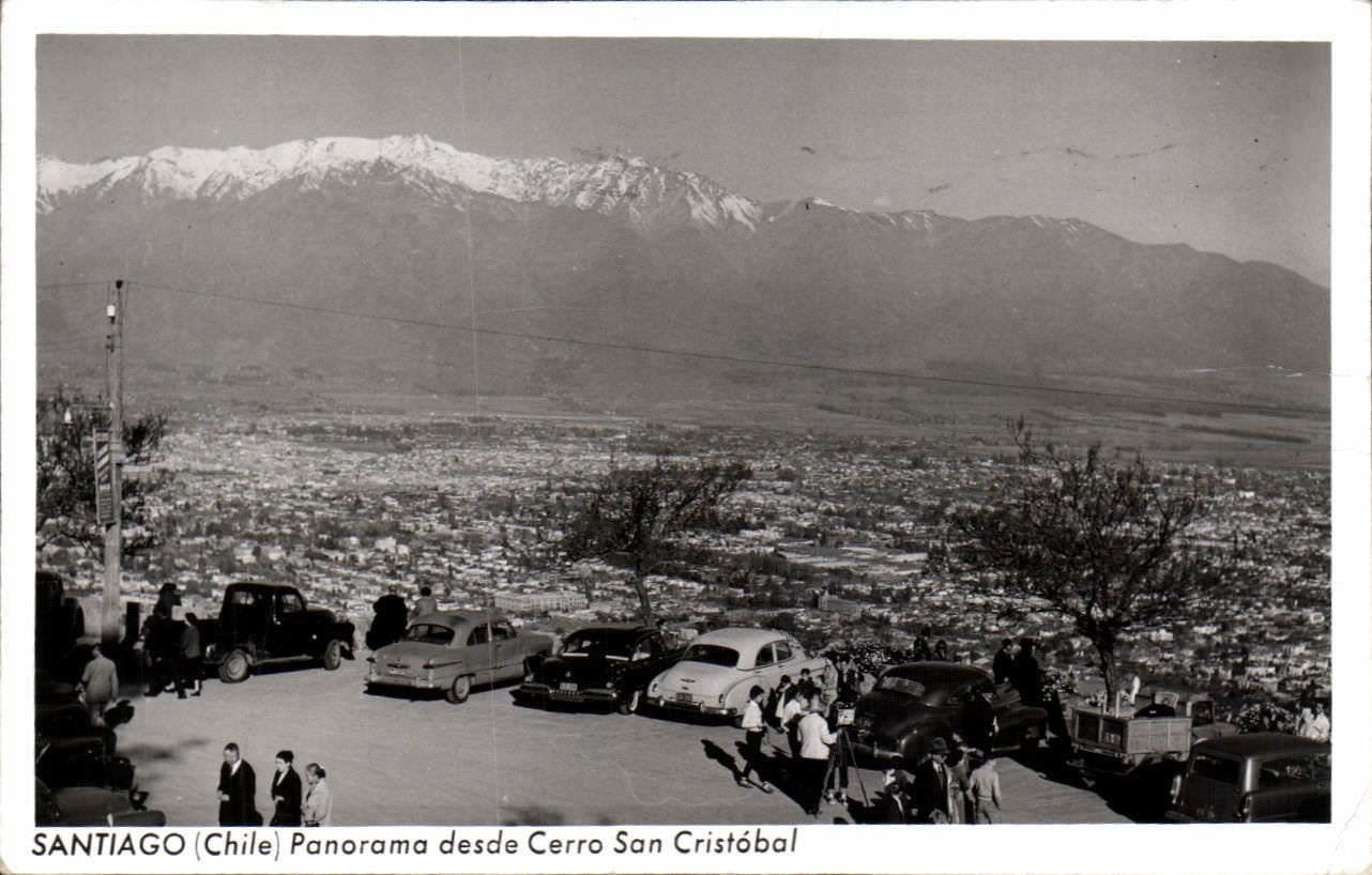 Enterreno - Fotos históricas de chile - fotos antiguas de Chile - Vista a Santiago en 1962