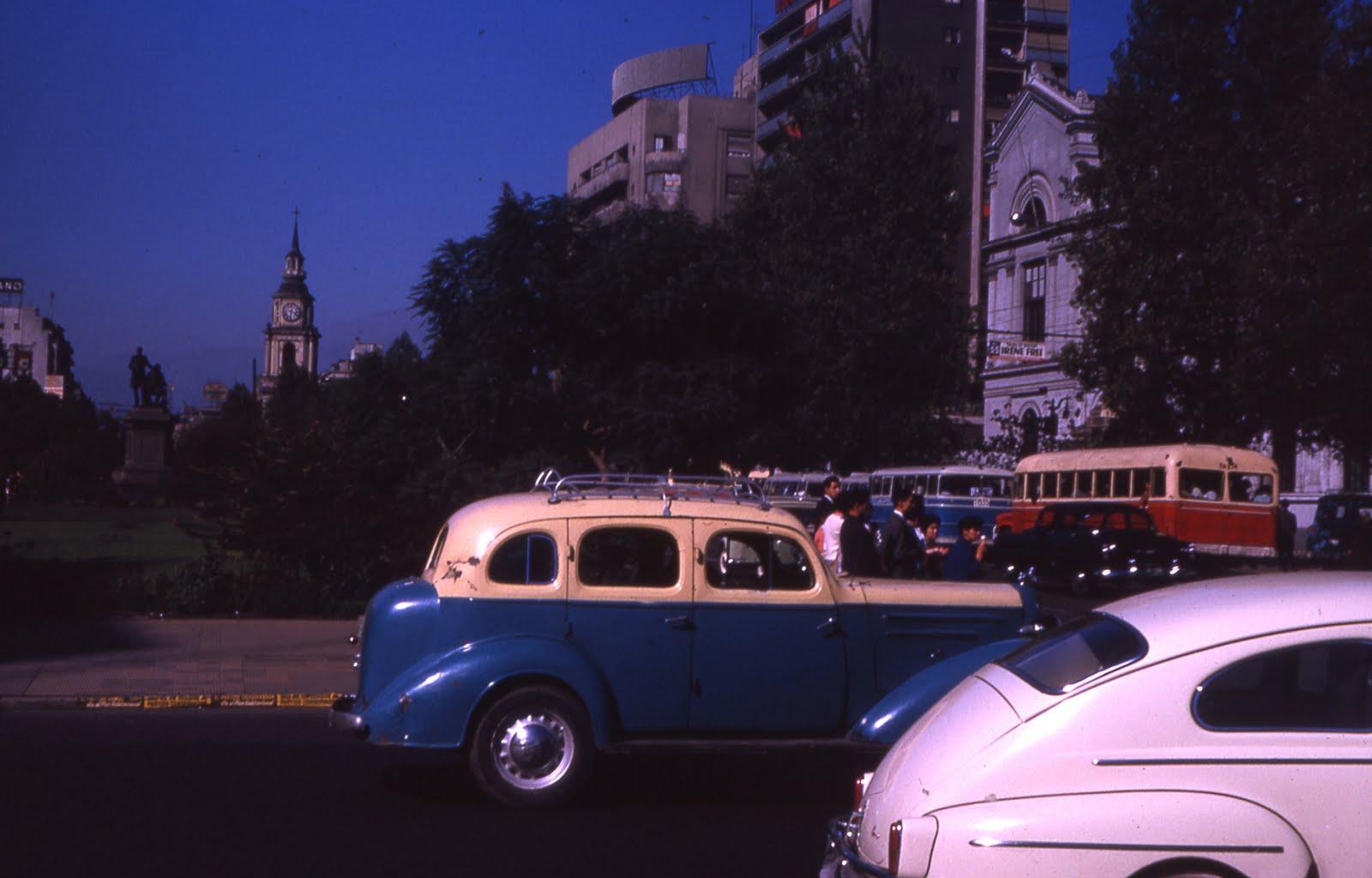 Enterreno - Fotos históricas de chile - fotos antiguas de Chile - Alameda en 1963