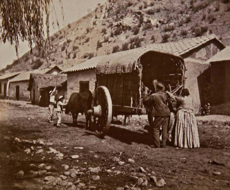 Enterreno - Fotos históricas de chile - fotos antiguas de Chile - Barrio La Chimba de Santiago en 1880