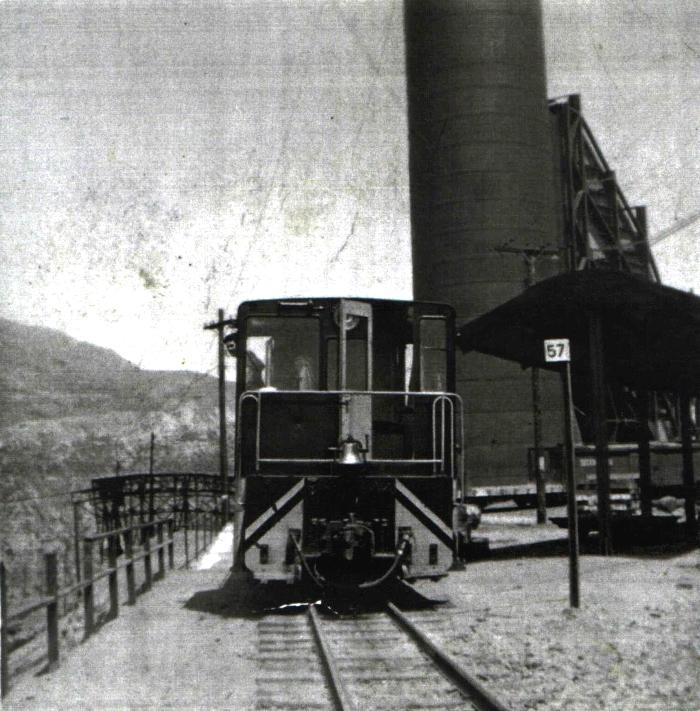 Enterreno - Fotos históricas de chile - fotos antiguas de Chile - Ferrocarril Sewell, ca. 1910