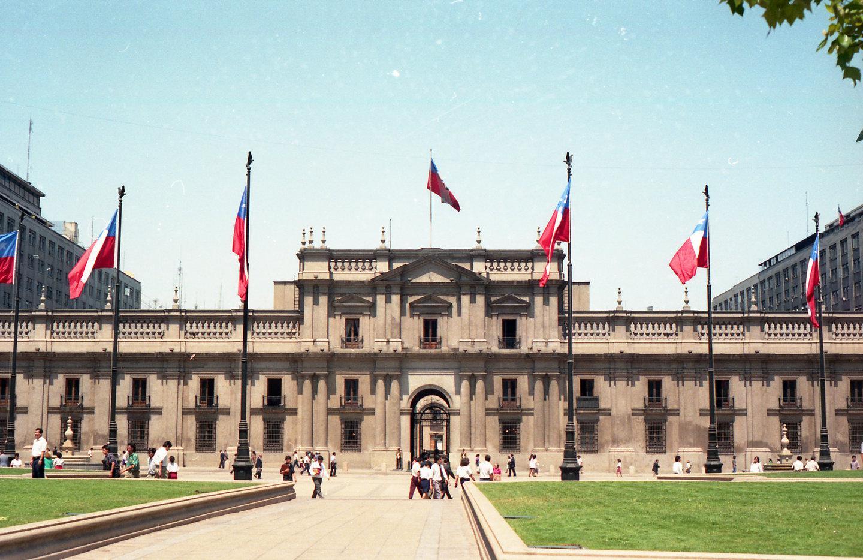 Enterreno - Fotos históricas de chile - fotos antiguas de Chile - Palacio de La Moneda, en 1980