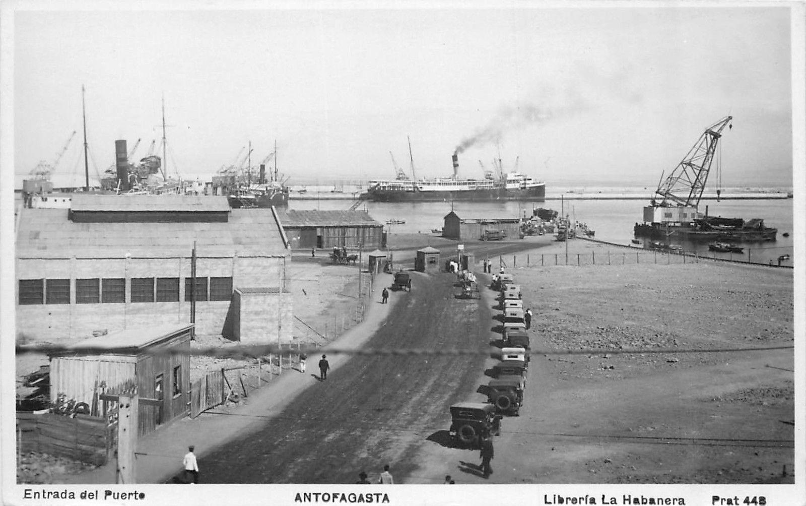 Enterreno - Fotos históricas de chile - fotos antiguas de Chile - Puerto de Antofagasta, 1928
