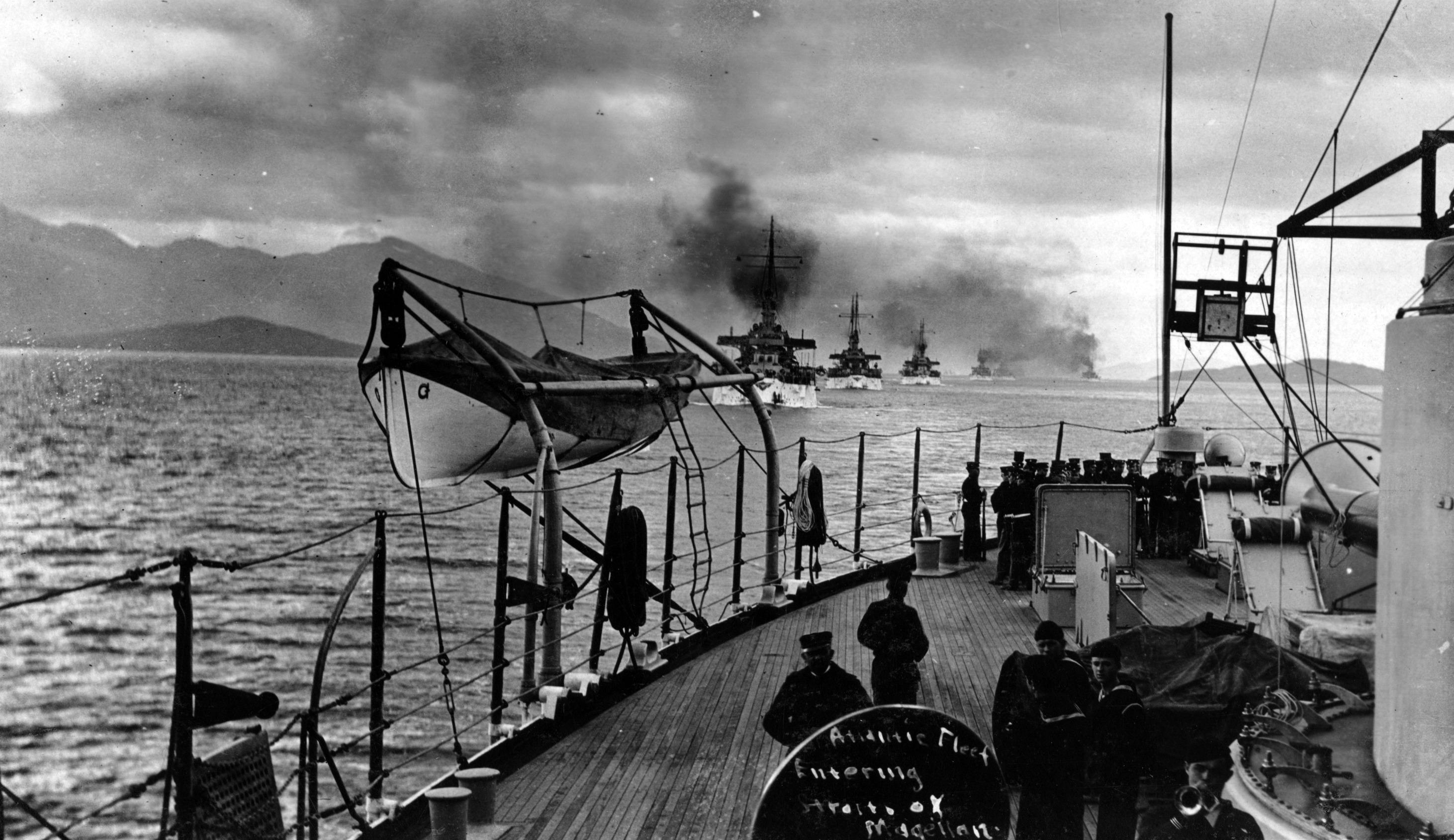 Enterreno - Fotos históricas de chile - fotos antiguas de Chile - Estrecho de Magallanes, 1908