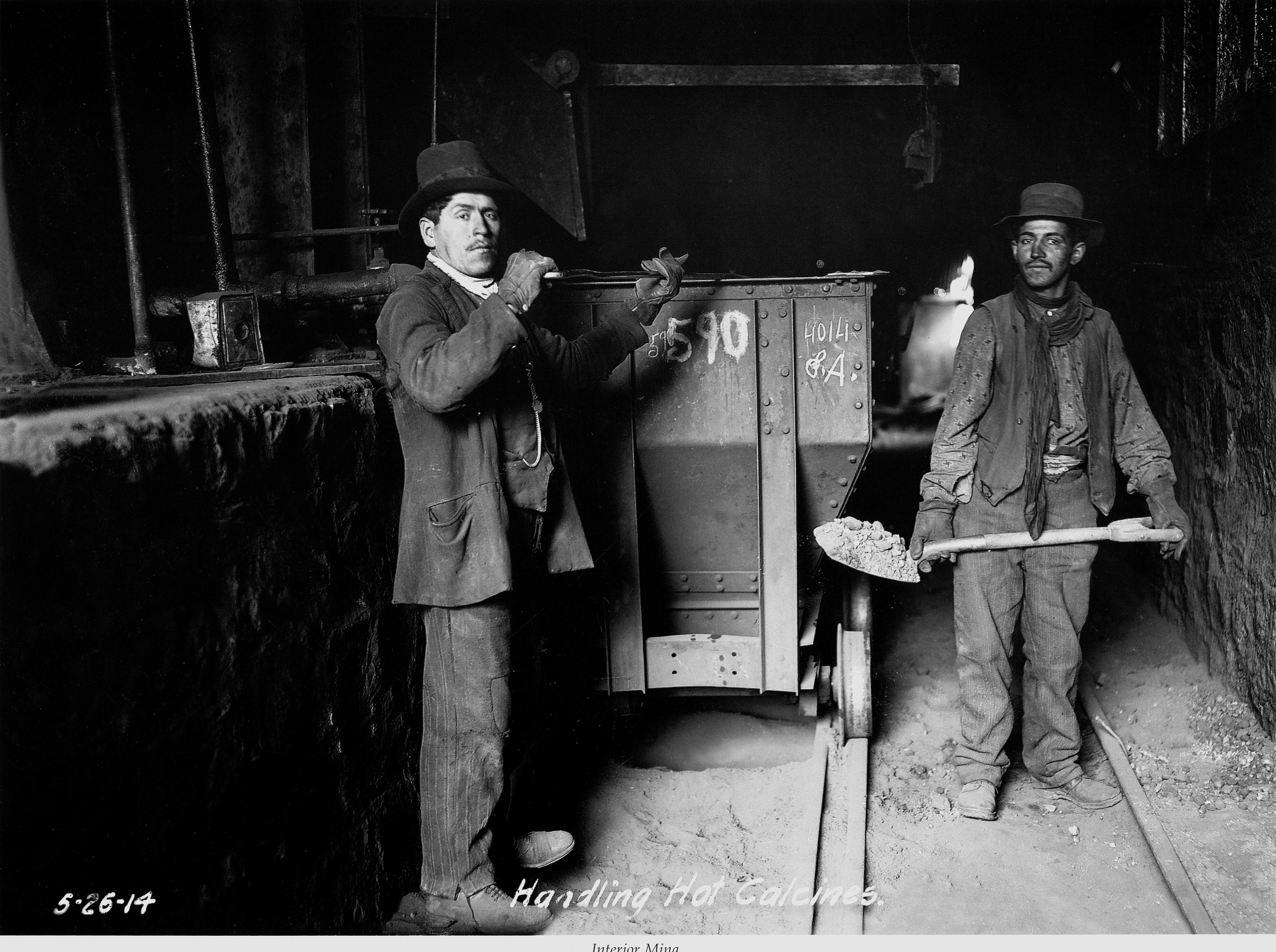 Enterreno - Fotos históricas de chile - fotos antiguas de Chile - Interior Mina el Teniente, Sewell, 1914