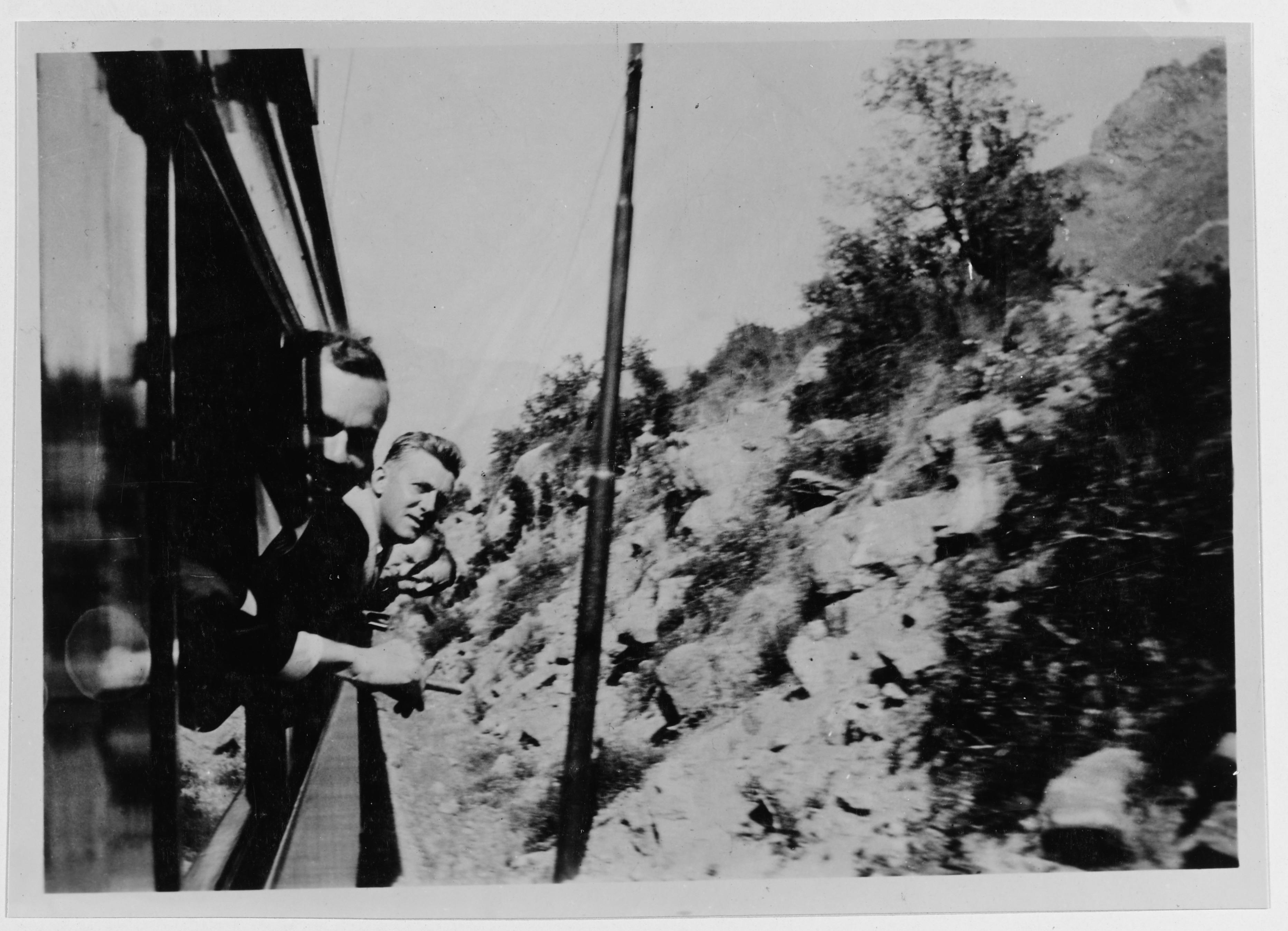Enterreno - Fotos históricas de chile - fotos antiguas de Chile - Tren Cordillera de los Andes,1928