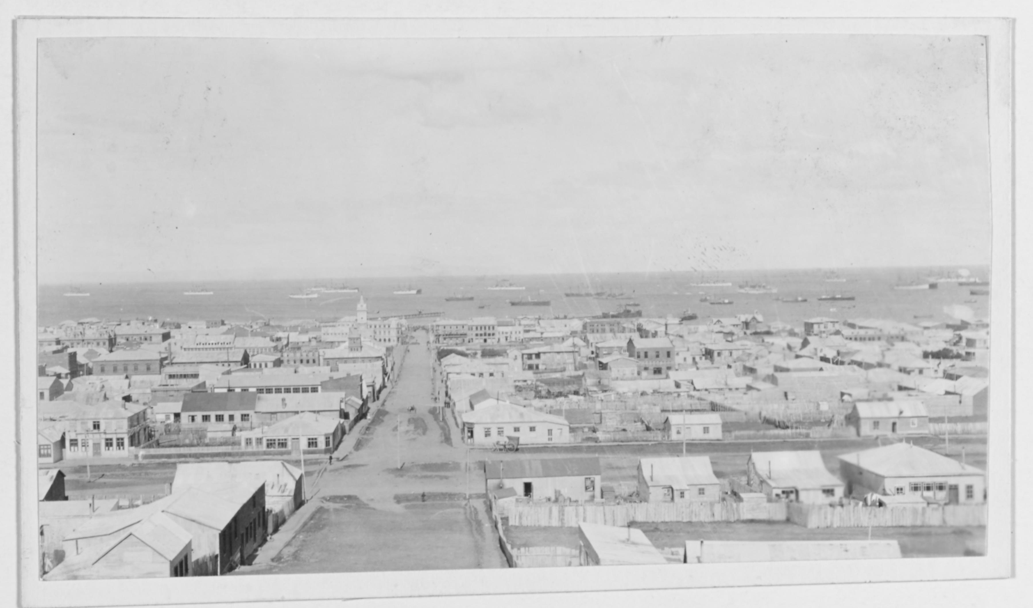 Enterreno - Fotos históricas de chile - fotos antiguas de Chile - Punta Arenas, Febrero 1908