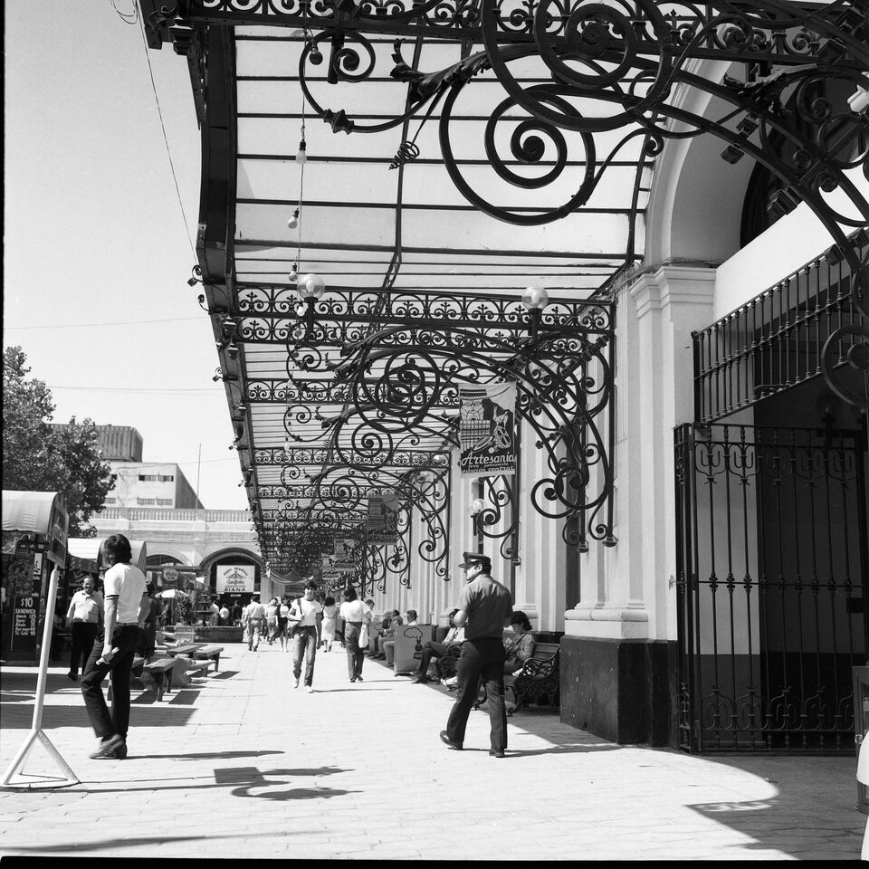 Enterreno - Fotos históricas de chile - fotos antiguas de Chile - Estación Central, 1984