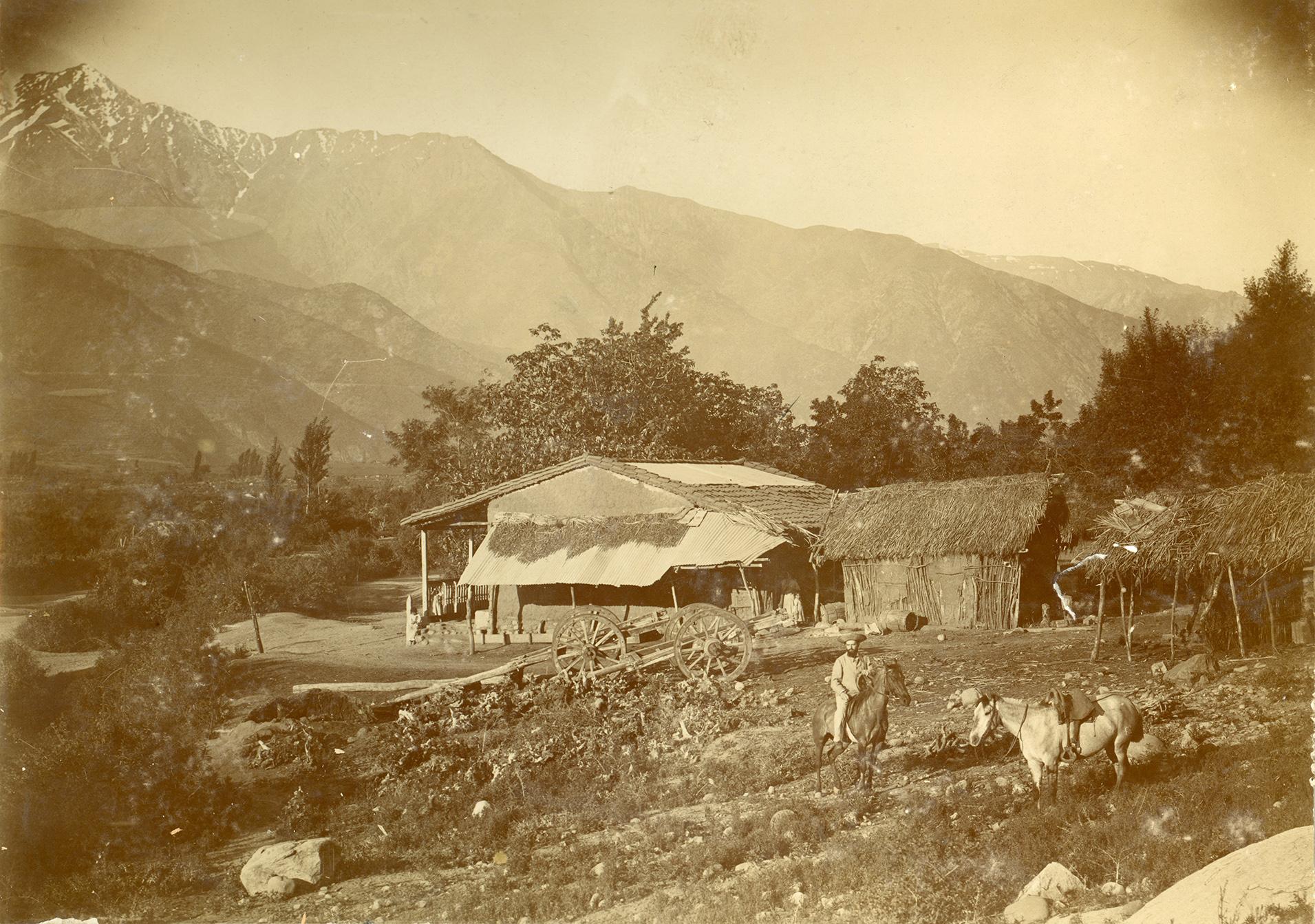 Enterreno - Fotos históricas de chile - fotos antiguas de Chile - Vida en la montaña, ca. 1901