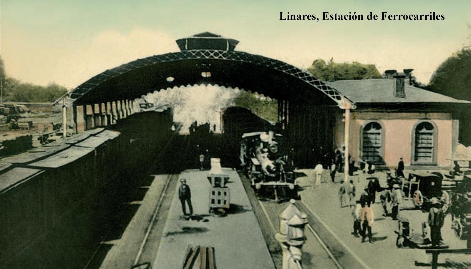 Enterreno - Fotos históricas de chile - fotos antiguas de Chile - Estación de ferrocarriles de Linares en 1930