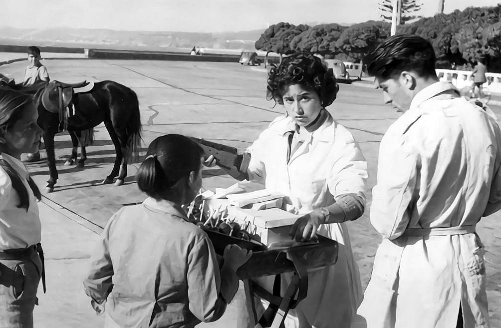 Enterreno - Fotos históricas de chile - fotos antiguas de Chile - Final de la Calle Uno Norte en Viña del Mar, 1960
