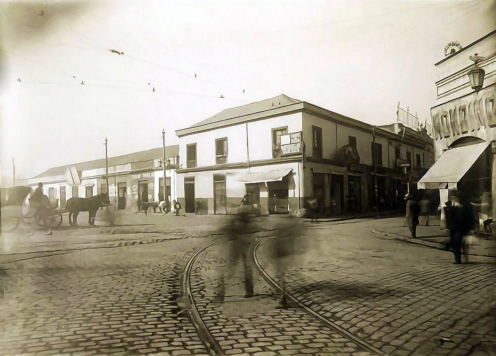 Enterreno - Fotos históricas de chile - fotos antiguas de Chile - Barrio Mapocho de Santiago, 1915