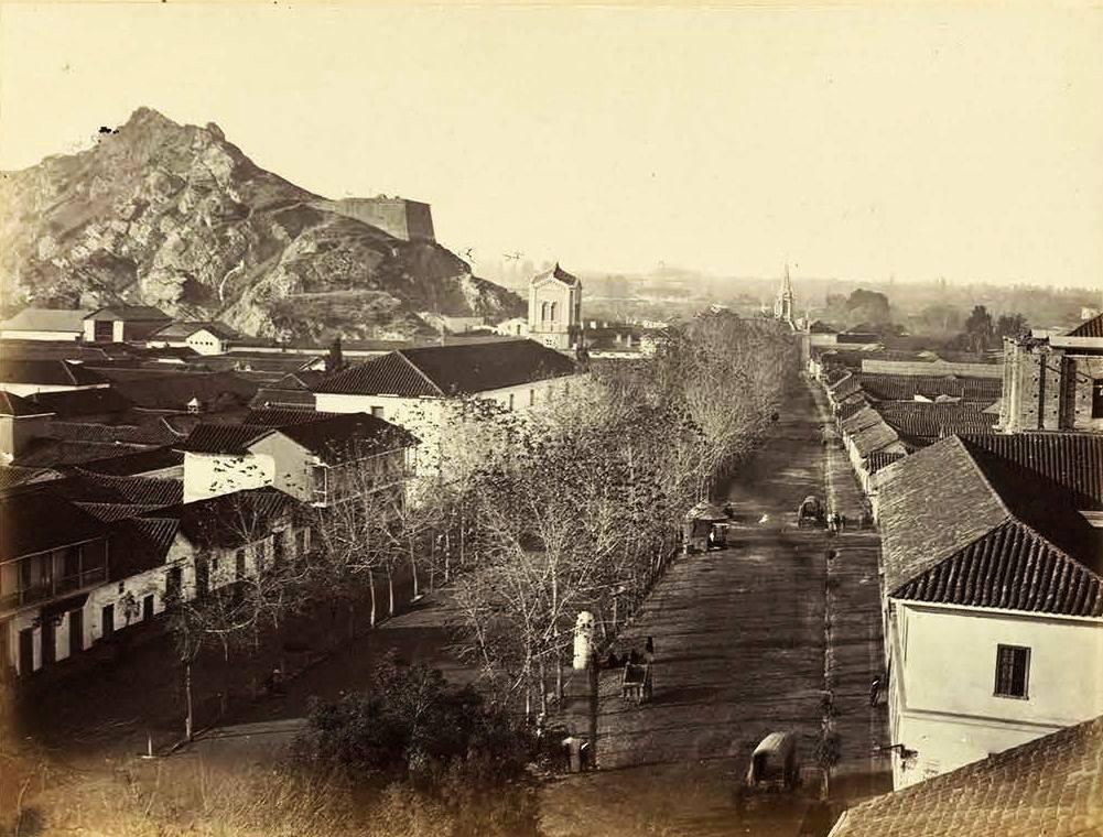 Enterreno - Fotos históricas de chile - fotos antiguas de Chile - Alameda de las Delicias de Santiago, 1860