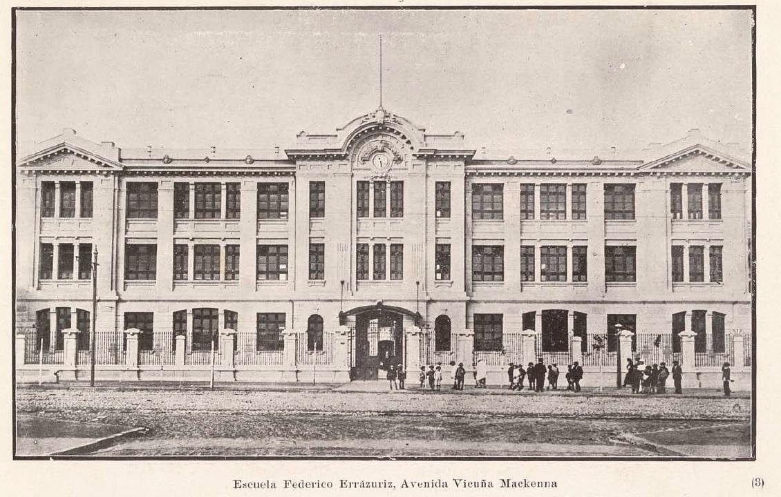 Enterreno - Fotos históricas de chile - fotos antiguas de Chile - Escuela Federico Errázuriz, 1923