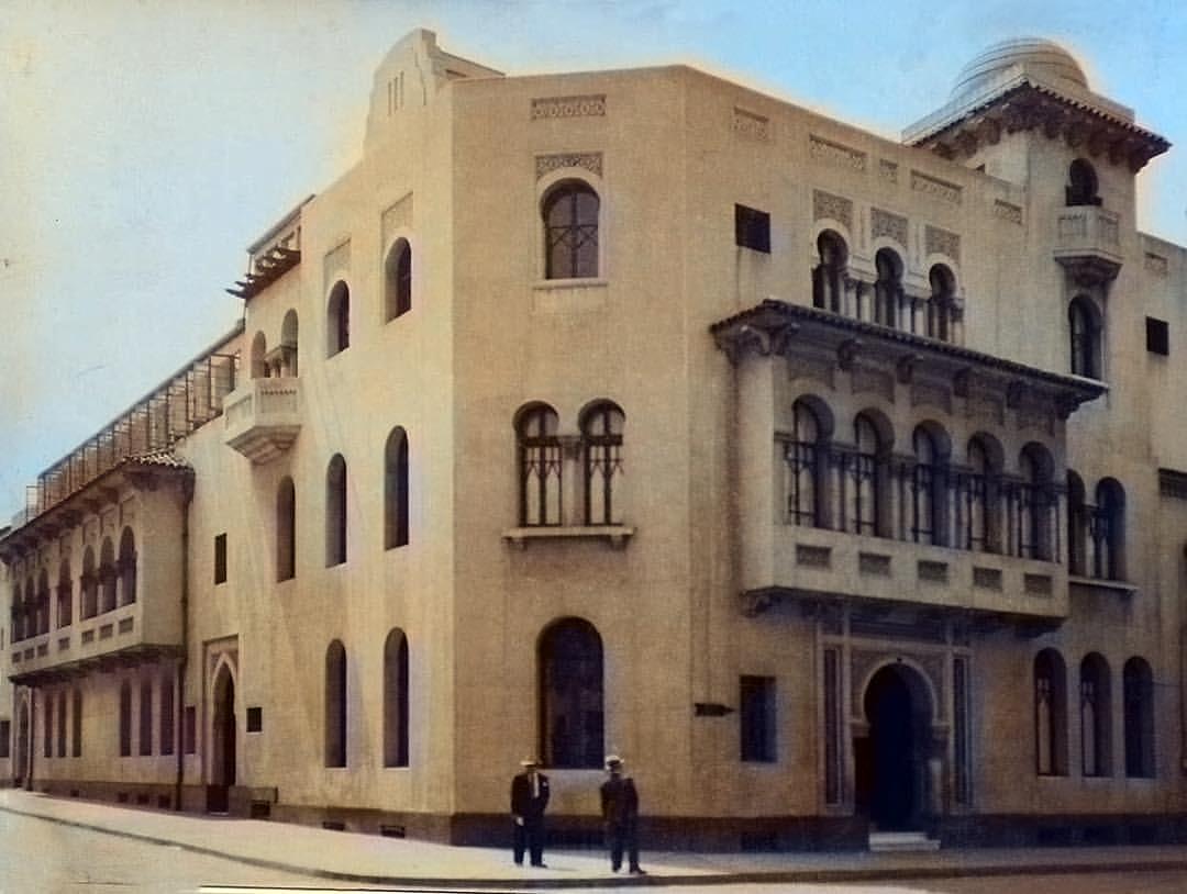 Enterreno - Fotos históricas de chile - fotos antiguas de Chile - Edificio del Círculo Israelita de Chile, 1935