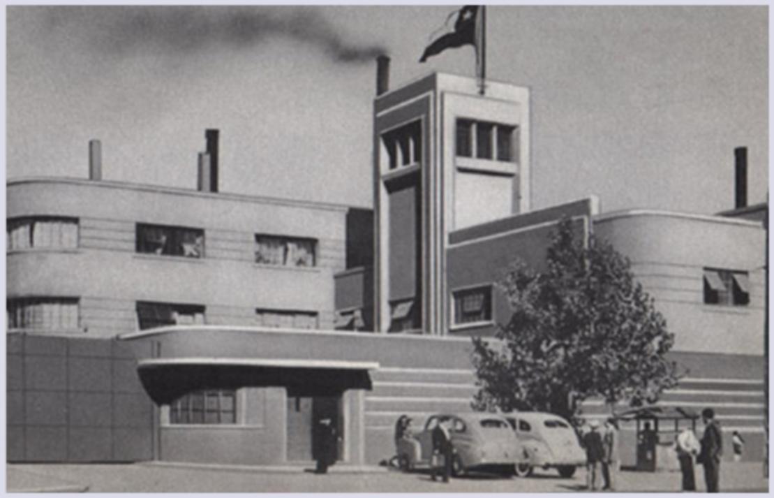 Enterreno - Fotos históricas de chile - fotos antiguas de Chile - Cristalerías Chile, 1940