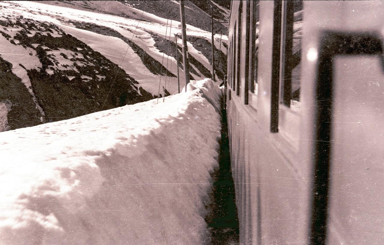 Enterreno - Fotos históricas de chile - fotos antiguas de Chile - A Portillo en tren, 1966