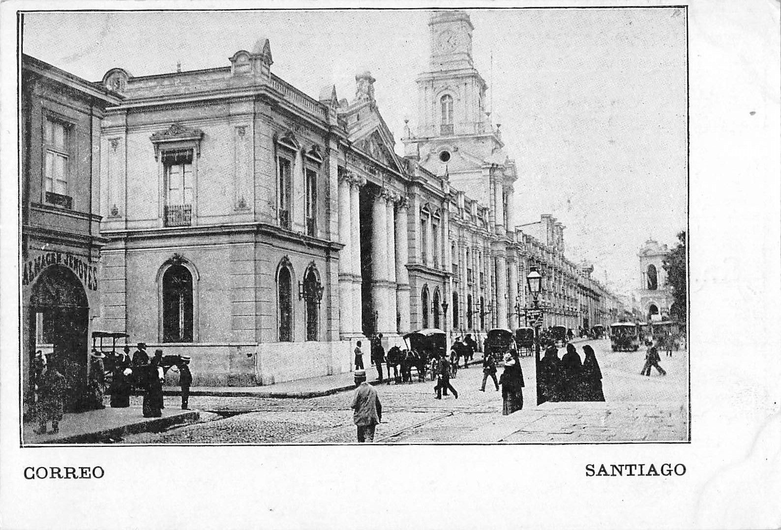 Enterreno - Fotos históricas de chile - fotos antiguas de Chile - Plaza de Armas en 1900
