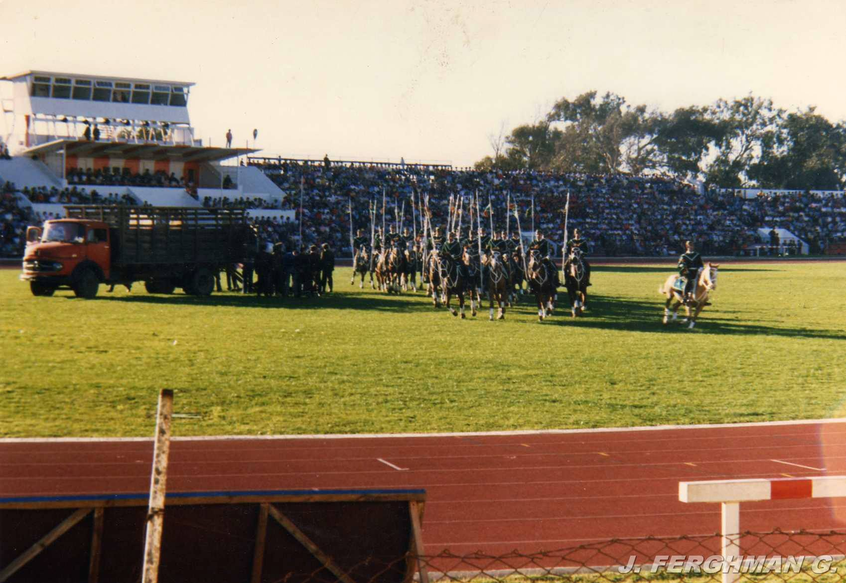 Enterreno - Fotos históricas de chile - fotos antiguas de Chile - Estadio Sausalito en 1986