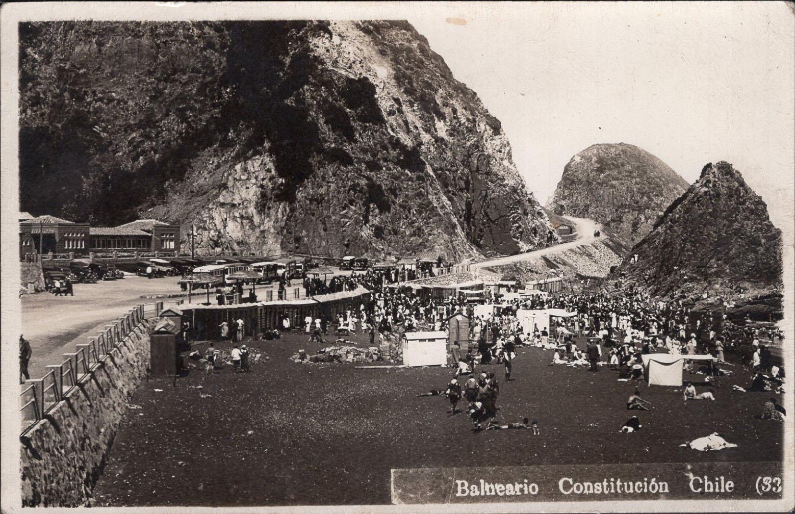 Enterreno - Fotos históricas de chile - fotos antiguas de Chile - Playa de Constitución 1935