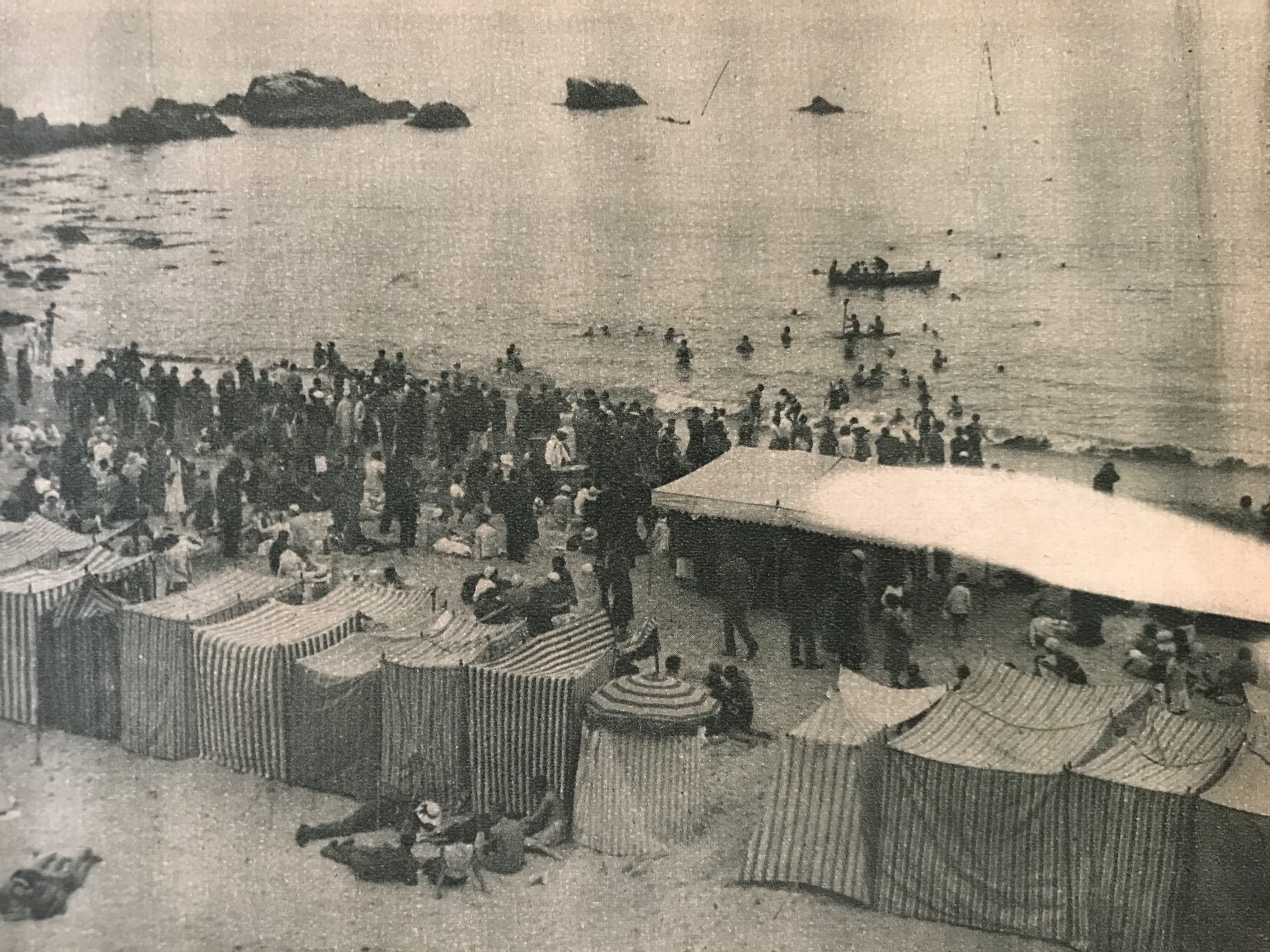Enterreno - Fotos históricas de chile - fotos antiguas de Chile - Playa Las Salinas, 1932