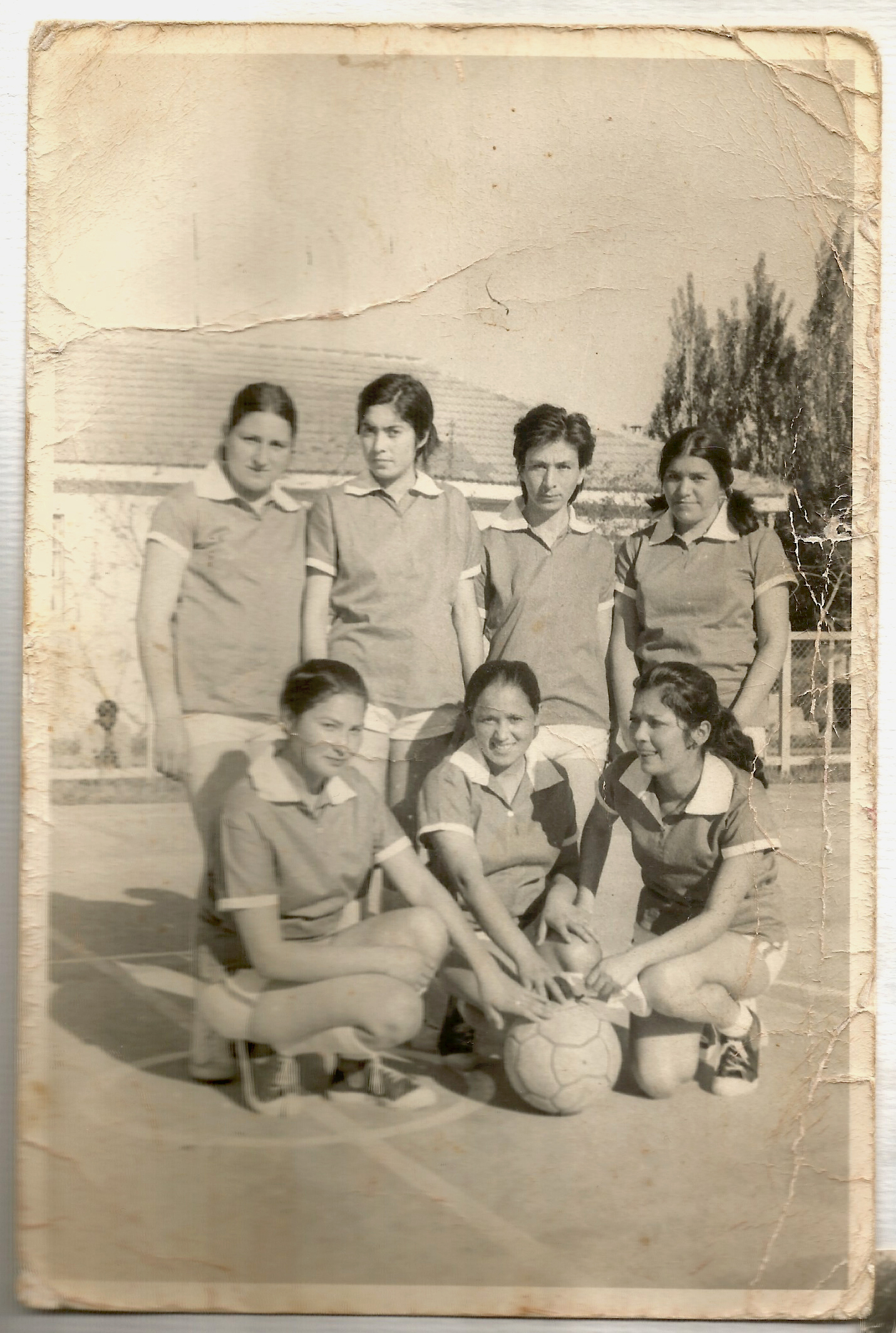 Enterreno - Fotos históricas de chile - fotos antiguas de Chile - Equipo de Básquetbol Hospital Sanatorio El Pino, 1964
