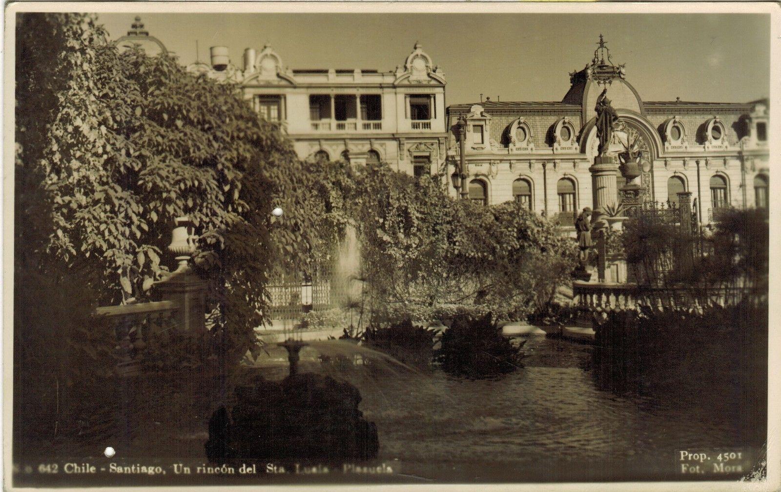 Enterreno - Fotos históricas de chile - fotos antiguas de Chile - Cerro Santa Lucía en 1935
