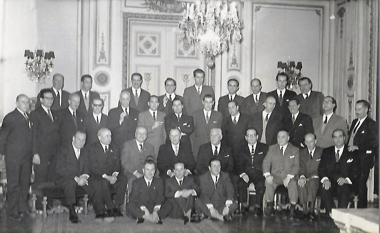 Enterreno - Fotos históricas de chile - fotos antiguas de Chile - Club de la Unión, almuerzo mensual de la Asociación de Corredores de Vinos, 1965