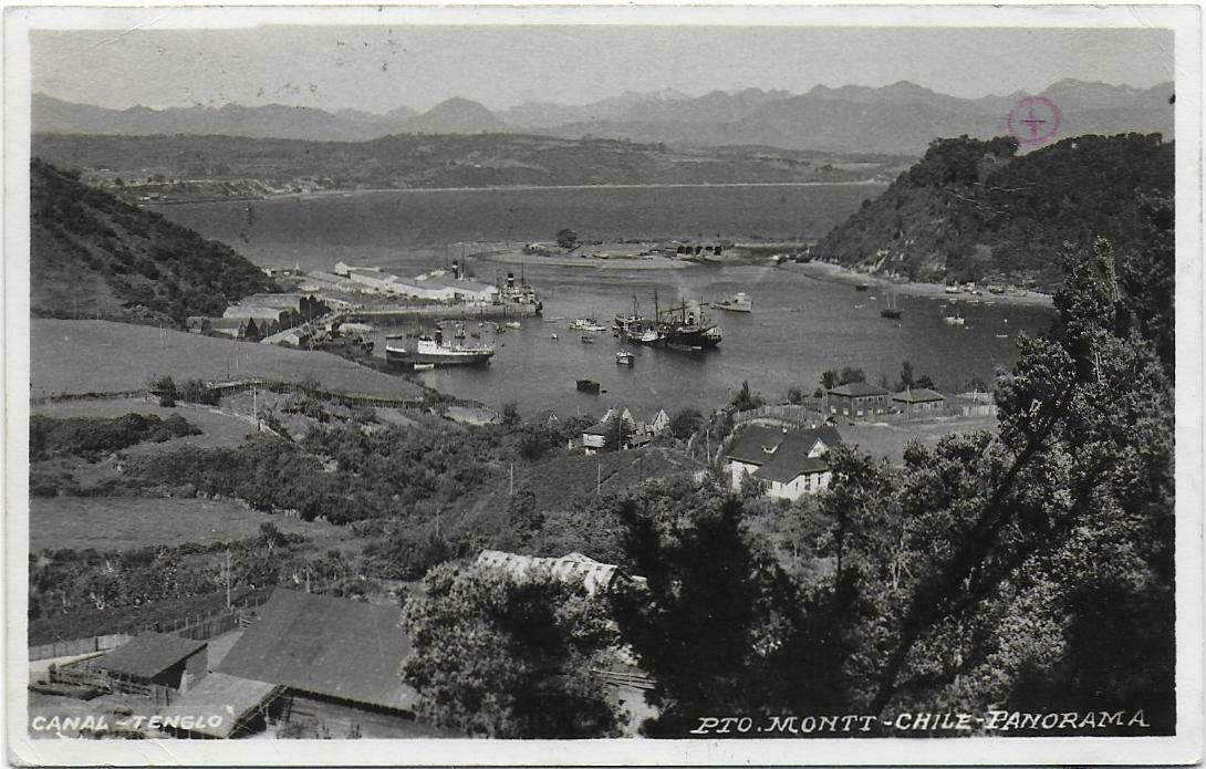 Enterreno - Fotos históricas de chile - fotos antiguas de Chile - Panorama de Puerto Montt, 1948