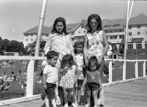 Enterreno - Fotos históricas de chile - fotos antiguas de Chile - Verano en Pucón 1969