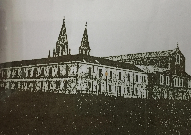 Enterreno - Fotos históricas de chile - fotos antiguas de Chile - Convento de San Alfonso de Cauquenes, 1909