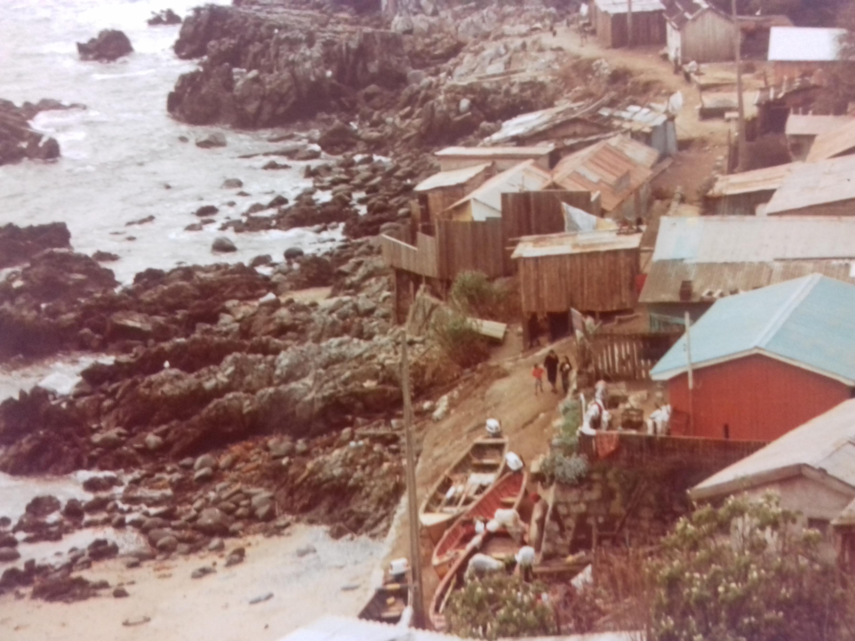 Enterreno - Fotos históricas de chile - fotos antiguas de Chile - Cerca de Reñaca, 1982