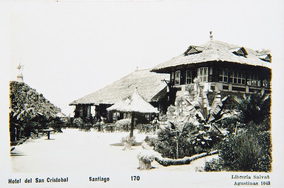 Enterreno - Fotos históricas de chile - fotos antiguas de Chile - Casino Cumbre en el San Cristóbal, 1921